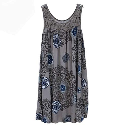 Respctful✿Women's Sleeveless Floral Print Tops Loose Henley Tunic Flare Flowy Tank Top Plus Size for Women - Lion Silver Lapel Sterling Pins