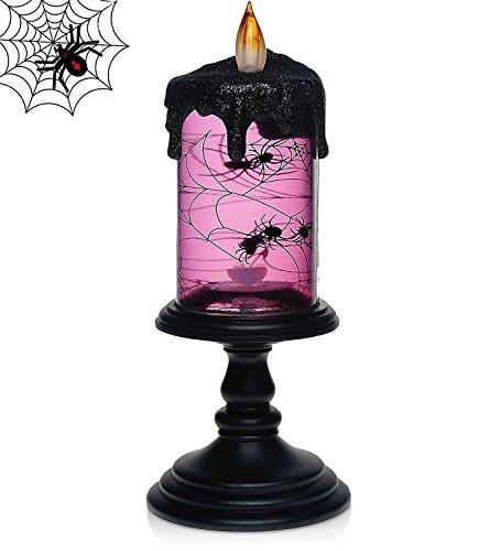 Halloween Spider Tornado LED Lighting Flameless Candle,Ba...