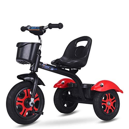 Zhijie-chezi Triciclo Infantil Pedal de Bicicleta para niños 2-5 años de Edad de Acero de Alto Carbono Carro de bebé...