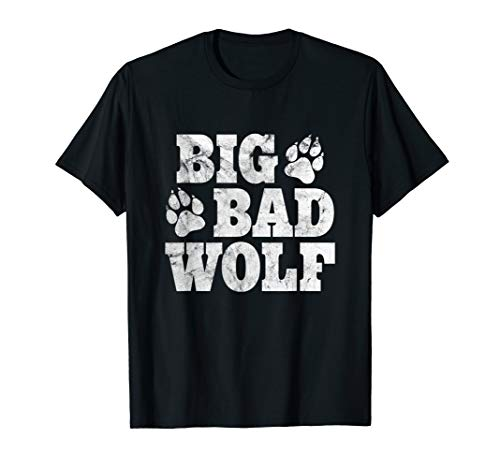 Big Bad Wolf Shirt Halloween Costume Outfit Girls Boys Gift -