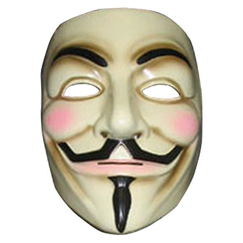 V for Vendetta Mask Adult Mens Guy Fawkes Anonymous USA Occupy Halloween Costume (Lighting Mcqueen Costume)