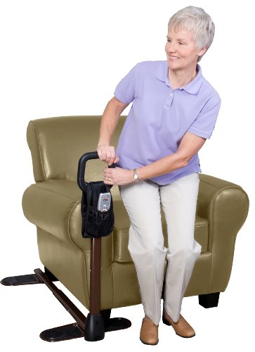 Stander CouchCane -  Ergonomic Safety Support Handle + Adjustable Living Room Standing Aid for Chair Couch & Lift Chair + Organizer Pouch by Standers