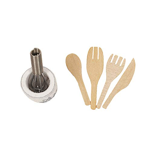 - BaoFu 1:12 Wooden Kitchen Cabinet Toy,Dollhouse Kitchen Miniature Furniture Toys for Kids,Dollhouse with Fork, Whisk,Kettle, Plant,Cooking Pan,Turkey, (Spatula)