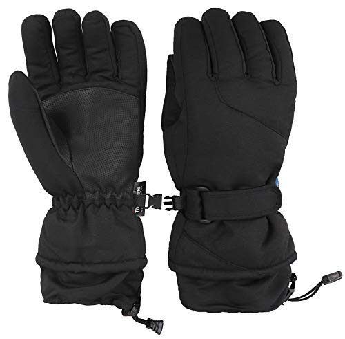 - EPGU Ski Gloves Womens Winter Waterproof Ski Gloves Snowboard Gloves,Black,L
