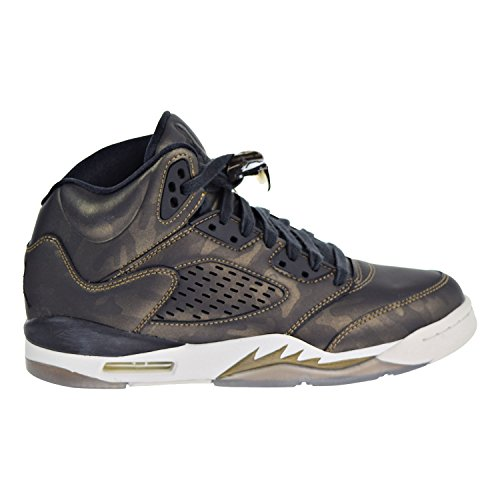 Jordan Retro 5'' Heiress Camo Black/Black-Light Bone (Big Kid) (7.5 Big Kid M) by Jordan