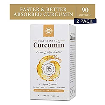 Image of Health and Household Solgar Full Spectrum Curcumin Liquid Extract Softgels, 2 Pack - 90 Count Each - Faster Absorption - Brain, Joint & Immune Health - Non-GMO, Gluten-Free, Dairy-Free, Soy-Free - 180 Servings