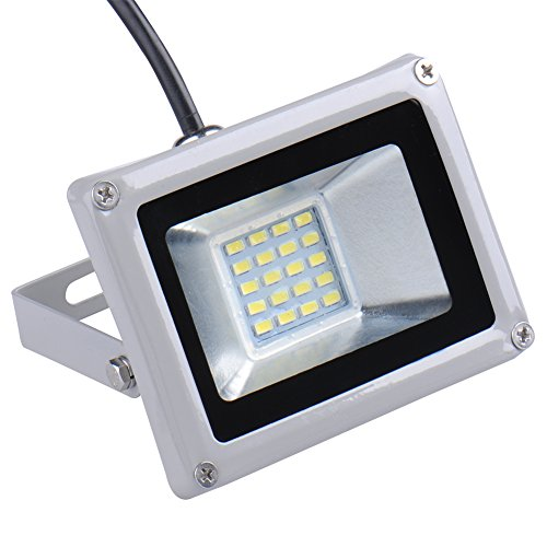 Zyurong® 2 pcs Energy Saving 20W IP65 Waterproof LED Flood Light Cool White Lamp Security LED Spotlight High Powered Landscape Outdoor Lamp 120 Degree Beam Angle,Gray Shell