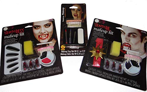 Vampire Family Halloween Makeup Kits, Halloween Costume, Male,