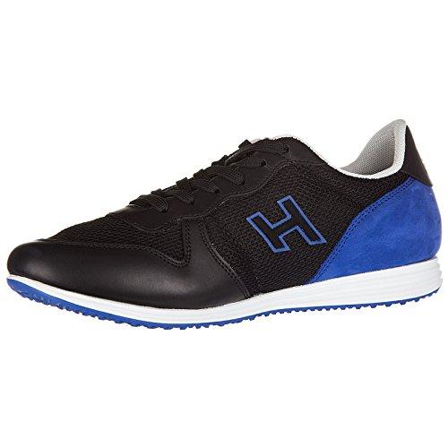 Comprar Barato 2018 Venta Oficial Sitio En Línea Hogan Scarpe Sneakers Uomo in Pelle Nuove h205 Olympia h Flock Nero Mejor Proveedor Tienda Asequibles Venta En Línea emghASP