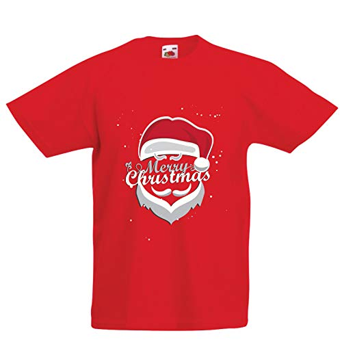 lepni.me Kids T-Shirt Merry Christmas - Santa is Coming to Town (1-2 Years Red Multi Color) -
