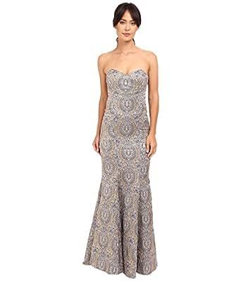Nicole Miller Women's Dakota Embroidered Gown Lilac Multi Dress 4
