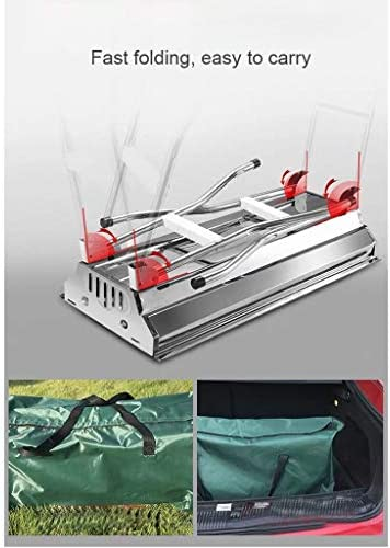 LHY DECORATION Pliant Charcoal Grill Barbecue Portable en Acier Inoxydable Camping Grill Grand Grill Ensemble Camping Cuisine pour Voyage en Plein Air Jardin