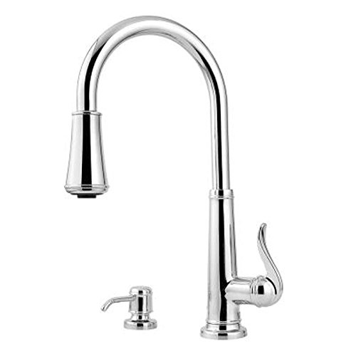 Pfister Premium Innovation Quality Ashfield 1-Handle Pull-Down Sprayer Kitchen Faucet in Polished Chrome