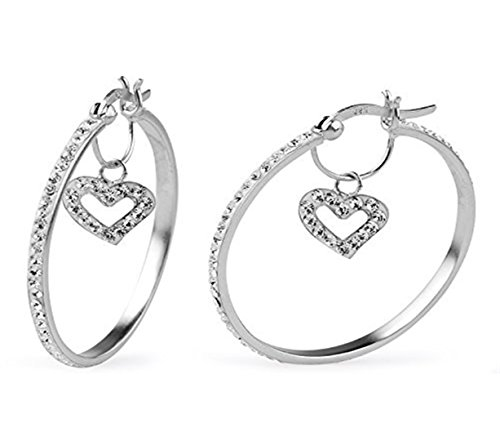 crystal hoop earrings - 5