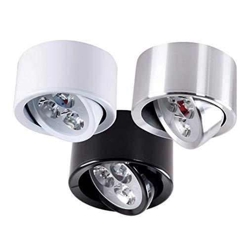 Blanc 7W zxqwas Plafonnier Plafonnier Moderne monté de la Lampe LED de Plafond Moderne rougeatif de 60 degrés pour l'appareil d'éclairage de Fond de Salon