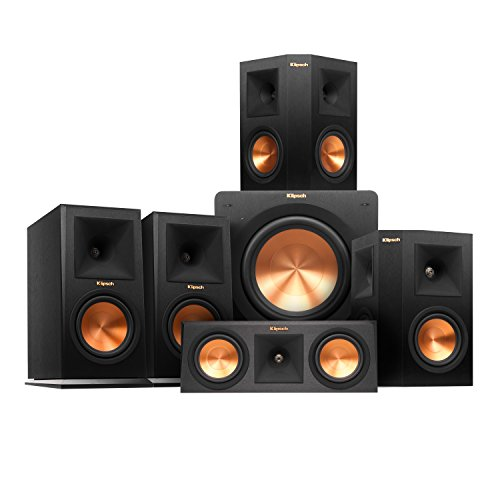 Klipsch RP-160M Home Theater System Bundle (Ebony) with Yamaha RX-A850