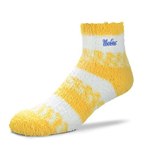 For Bare Feet NCAA RMC Pro Stripe Fuzzy Sleep Soft Sock -UCLA Bruins-Size-Medium