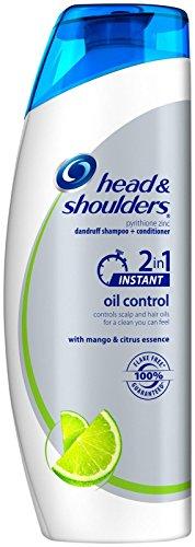 Shampoo Shoulders & Citrus Head (Head & Shoulders Instant Oil Control 2 in 1 Dandruff Shampoo and Conditioner - 12.8 oz)