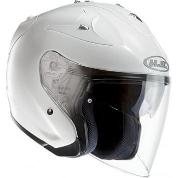 HJC FG JET– Casco de Moto Blanco Perla – S