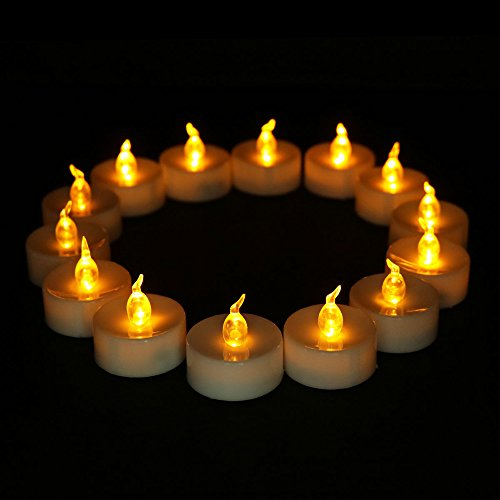 100 Pack, Led Flickering Candles Flameless Votive Battery Operated Birthday Unscented Bulk Electronic Yellow Tea Lights Candle For Christmas Halloween Wedding Party Festival Celebration, - Unity Discount Candles Wedding