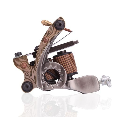 1TattooWorld New Cast 10 Laps Coils Tattoo Machine Liner Shader Tattoo Gun, - Gun Shader