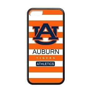 Generic Custom Unique Design NCAA Auburn Tigers Auburn University Athletic Teams Logo Plastic and TPU Black and White Case Cover for iPhone4/4s