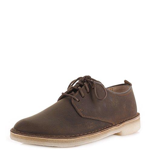 Da uomo Clarks Originals Desert London api in pelle con lacci scarpe Casual