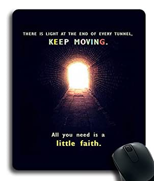 Quotes Hope Faith Light Tunnel Custom Mouse Pad Mouse Mat Cloth