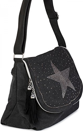 Blue Stones Shoulder Over Star Lady Top Shoulder 02012067 And Bag On All Rhinestones Bag Handbag With Dark Beige Bright Stylebreaker 4xdFqUzwq
