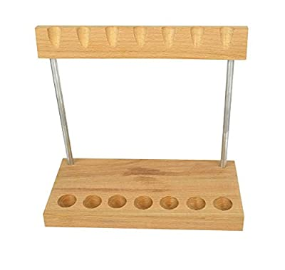 Wooden Hammer Stand (Holds 7 Hammers) Jewelry Making Metal Forming Organizer Bench Tool