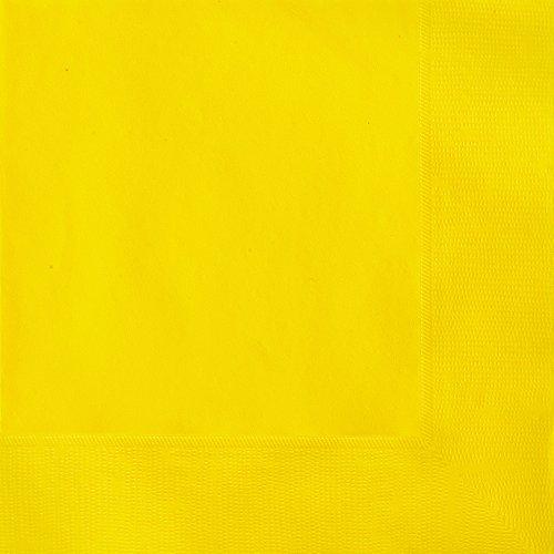 Unique 38962 Yellow Paper Napkins