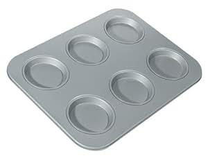 Fox Run Non-Stick 6-Cup Large Shallow Muffin Pan