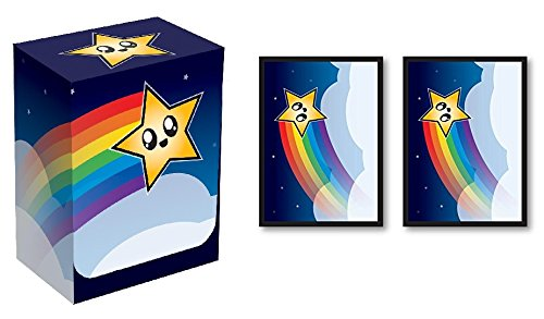 Star Protector Case (100 Legion RAINBOW STAR Deck Protectors & Deck Box Combo Set Legion Supplies Matte Sleeves 2-Packs - Standard Magic the Gathering Size)