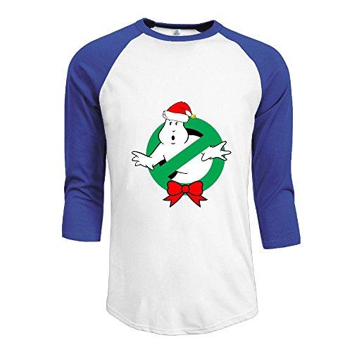 SAXON Men's Lovely Christmas Ghostbusters Raglan Tri-bend