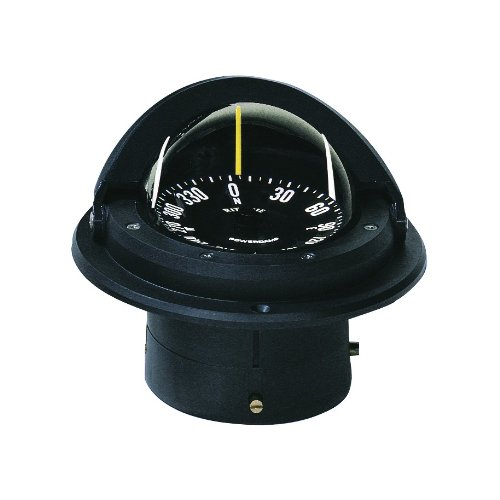 Ritchie Voyager Compass Flat Card Dial With Flush Mount And 12V Green Night Light (Black, 3 Inch)