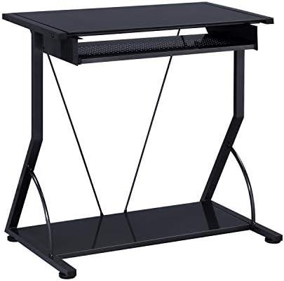 Best home office desk: Coaster Transitional Black Computer Desk