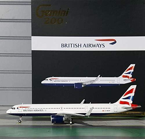 GeminiJets 1:200 Scale British Airways Airbus A321neo Airplane Model