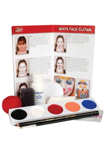 Clown Kit (Mehron Clown Makeup Kits (5 Colors))