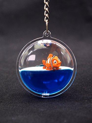 Creationtop Liquid Keychain Fashionable Glitter Powder Moving Floating Keychain (Fish) -