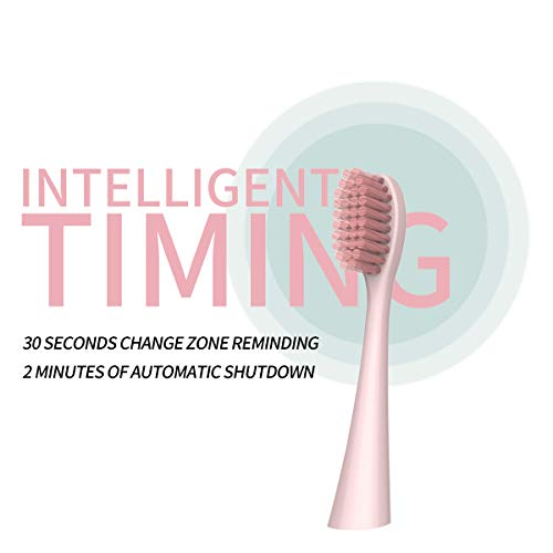 Kids Electric Sonic Toothbrush ,Kids&Adults Travel Sonic Toothbrush  2-Minute Timer —Sonic Toothbrush Pink