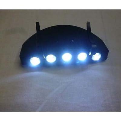 Dcolor 5 LED Light Under the Brim Cap Hat Headlamp Light for Hunting Fishing Hiking