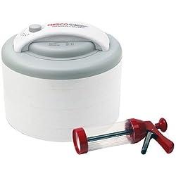 Nesco FD-61WHCK Premium Food Dehydrator with Jerky Gun, 6-Trays, White