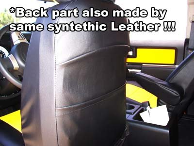 2010-2015 Chevy Camaro Black Artificial leather Custom fit Front seat cover by Iggee (Image #2)