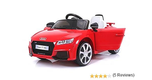 Audi TT RS, Rojo, Licencia Original, Batería accionada, Puertas de la Abertura, Asiento de Cuero, Motor 2X, Batería de 12 V, 2.4 GHz teledirigido, ...