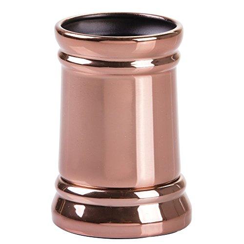 InterDesign Sutton Tumbler Cup for Bathroom Vanity Countertops – Rose Gold