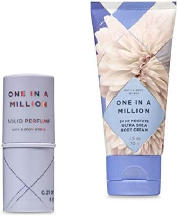 Bath and Body Works - One in a Million – NEW - Solid Perfume and Body Cream Travel Size set