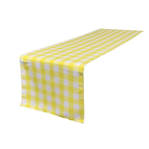 L.A. Linen 14 by 108-Inch Checkered Gingham Table Runner ...