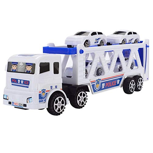 Bifast Children Trumpet Truck with Mini Police Cars Playing Toys Vehicles for Kid Boys Gift