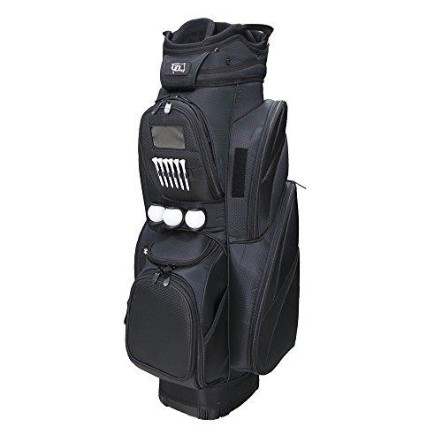 (RJ Sports CR-18 Deluxe Cart Bag, Black/Black, 9.5
