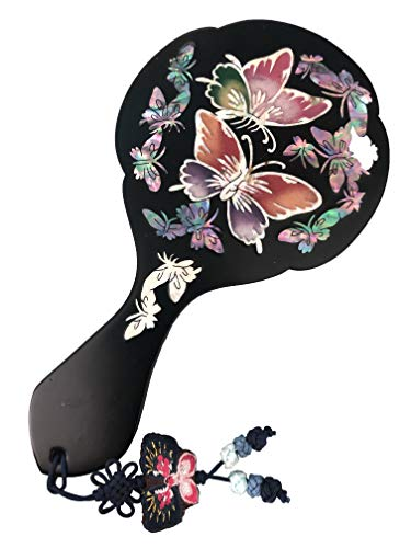 Lemmings company Mother-of-Pearl paua Shell Hand Mirror Butterfly Korean Traditional Kpop BTS for Army - Butterfly Shell Paua